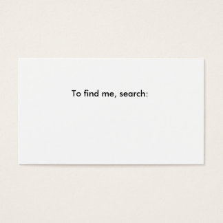 Fill in the blank business card. business card