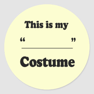 FILL IN THE BLANK COSTUME CLASSIC ROUND STICKER
