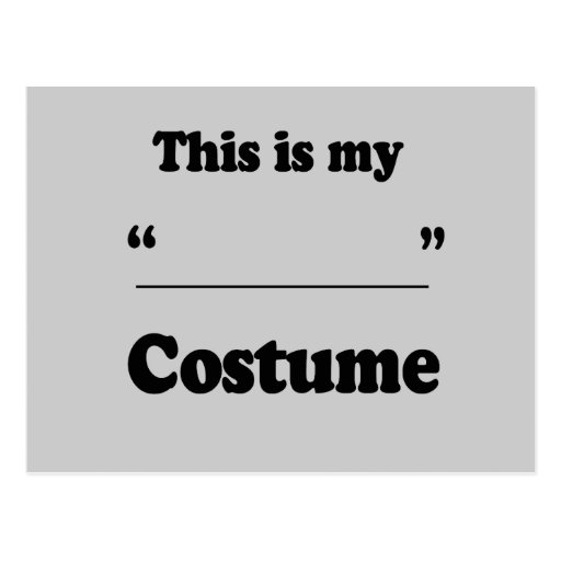 FILL IN THE BLANK COSTUME POSTCARD