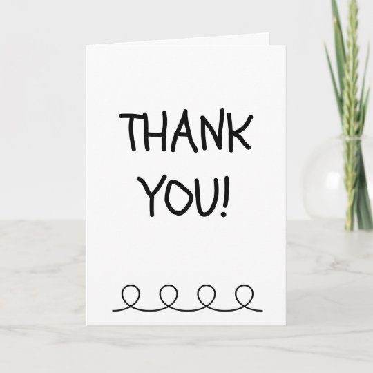 Fill In The Blank Thank You Card From Child Zazzle Com