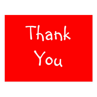 Fill-In-The-Blank Thank You Postcard - Customized