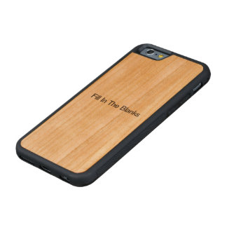 Fill In The Blanks.ai Carved® Cherry iPhone 6 Bumper Case