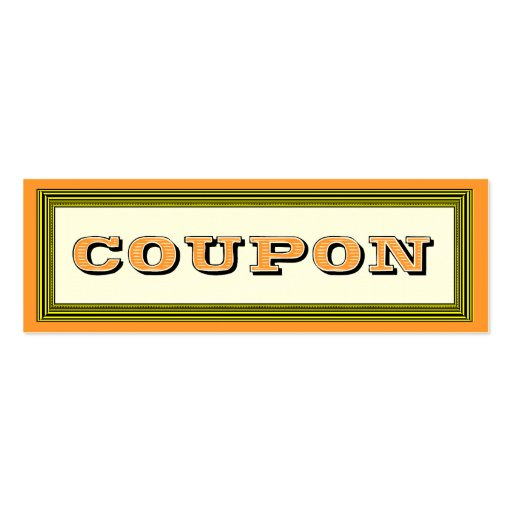 Fill in the Blanks Gift Certificate Coupon Card Business
