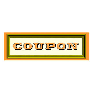Fill in the Blanks Gift Certificate Coupon Card Mini Business Card