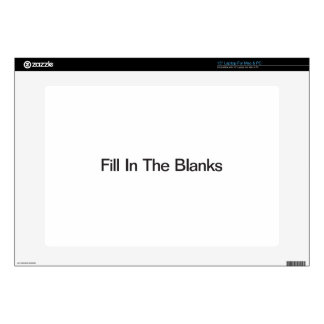 Fill In The Blanks Skin For Laptop