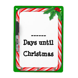 Fill in the Days Until Christmas Dry-Erase Board