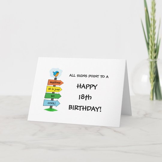 Fill In The Signs Fun 18th Birthday Card Zazzle