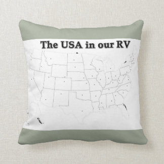 Fill in the States Throw Pillow