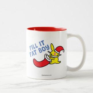 Fill It Fat Boy Two-Tone Coffee Mug