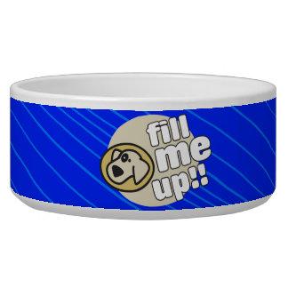 Fill Me Up Blue Dog Bowl