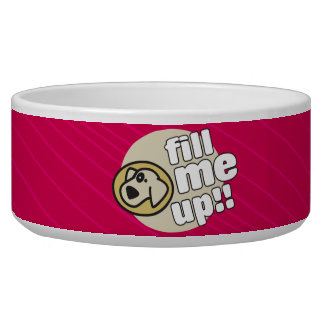 Fill Me Up Red Dog Bowl