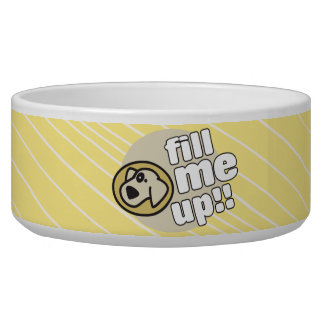 Fill Me Up Yellow Dog Bowl