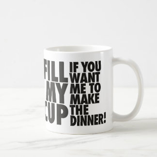 Fill My Dinner Turn Cup Mugs