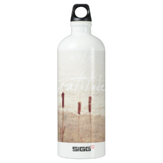 fill my heart with gratitude water bottle