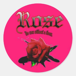 Fill Sticker rose ink brush