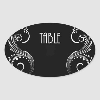 Fill Sticker Template Table Number