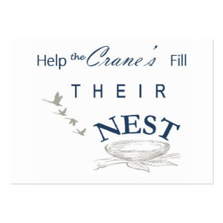 Fill the nest card large business card