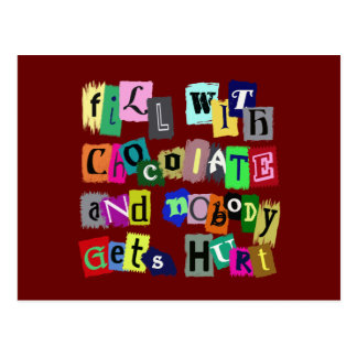 FILL WITH CHOCOLATE ... POSTCARD