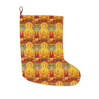 FILL WITH LOVE-BUDDHA BLESSINGS CHRISTMAS STOCKING LARGE CHRISTMAS STOCKING