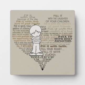 Fill Your Heart-Tan Plaque