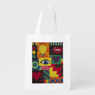 Fill your life with some color Tote bag Reusable Grocery Bag