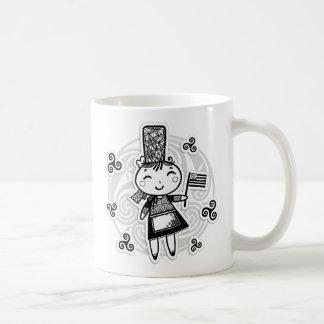 Fille de Bretonne Tazas De Café