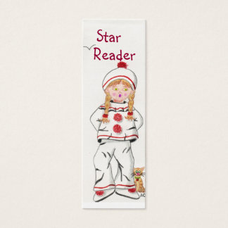 Fille en Pierrot  tiny bookmark Mini Business Card