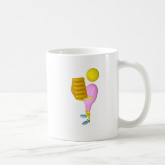 fille qui porte de l'or classic white coffee mug