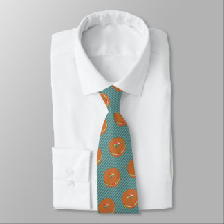 Filled Bagel - Choose Background Color - Novelty Neck Tie