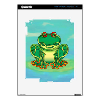 Filled Frog iPad 3 Decal