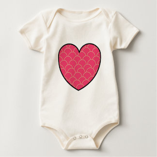Filled Heart Baby Bodysuit