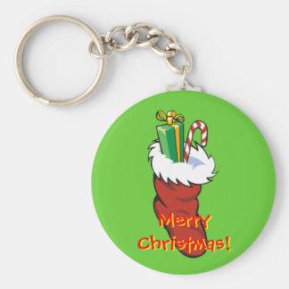 Filled Santa Stocking Keychain
