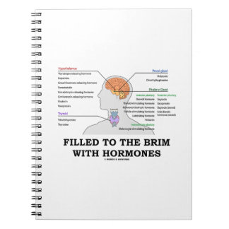Filled To The Brim With Hormones Medical Humor Spiral Notebook