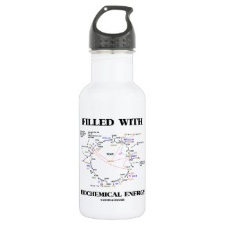 Filled With Biochemical Energy (Krebs Cycle) 18oz Water Bottle