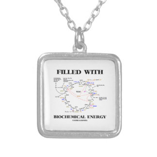 Filled With Biochemical Energy (Krebs Cycle) Silver Plated Necklace