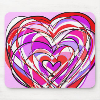 filled with heart and love mouse pad
