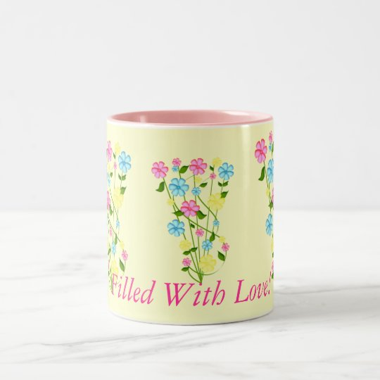 Filled With Love! Two-Tone Coffee Mug