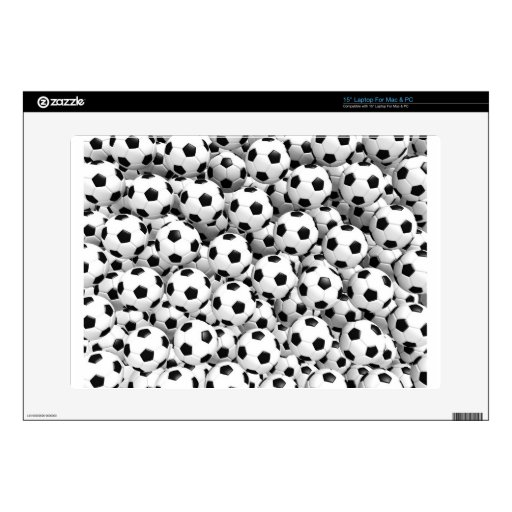 """Filled With Soccer Balls 15"""" Laptop Decals"""