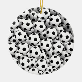 Filled With Soccer Balls Ceramic Ornament