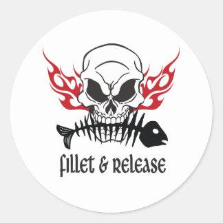 Fillet & Release Skull Stickers