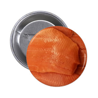 Filleted Salmon Pinback Button