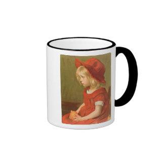 Fillette a l'orange coffee mug