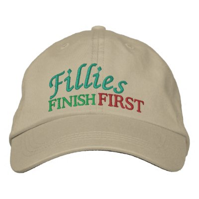 Fillies Finish FIRST - Horse Racing by SRF Baseball Cap