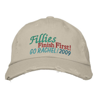 Fillies Finish FIRST - horse racing by SRF Embroidered Baseball Cap