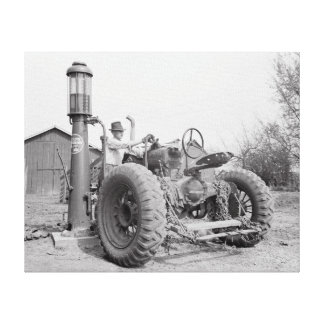 Filling the Tractor, 1940 Canvas Print