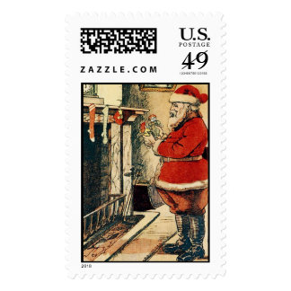 Filling up the Stockings Postage Stamps