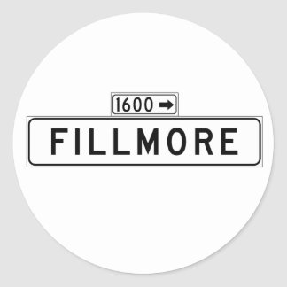 Fillmore St., San Francisco Street Sign Classic Round Sticker
