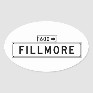 Fillmore St., San Francisco Street Sign Oval Sticker