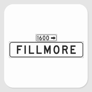 Fillmore St., San Francisco Street Sign Square Sticker