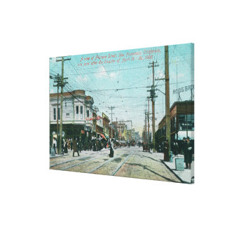 Fillmore Street View 1 Year After Fire of 1906 Canvas Print